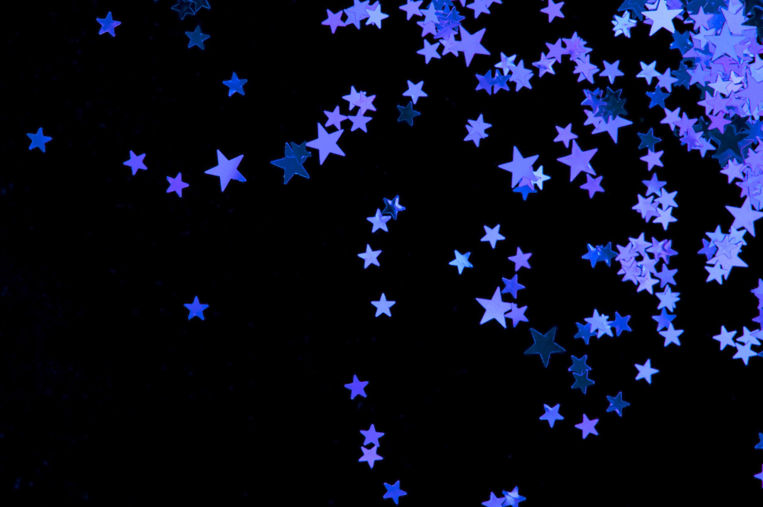 Purple Stars Desktop Wallpaper