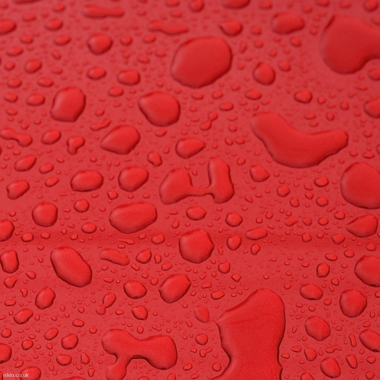 android table squareWaterdrops on Red