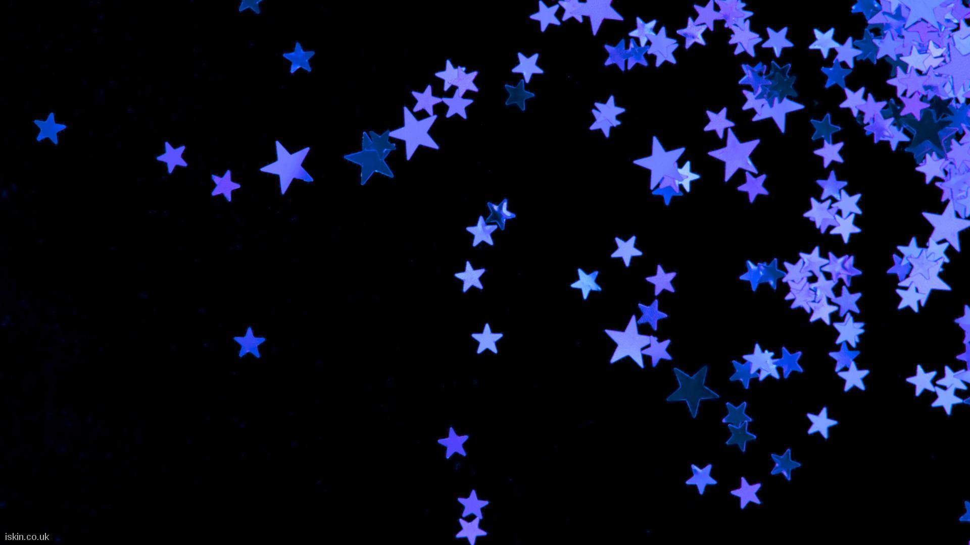 Black And Purple Stars