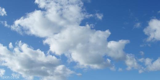 twitter header Fluffy White Clouds