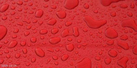 twitter header Waterdrops on Red