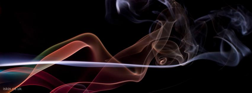 facebook header twisting smoke background