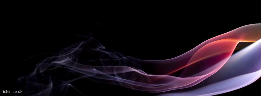 facebook header brightly colored smoke