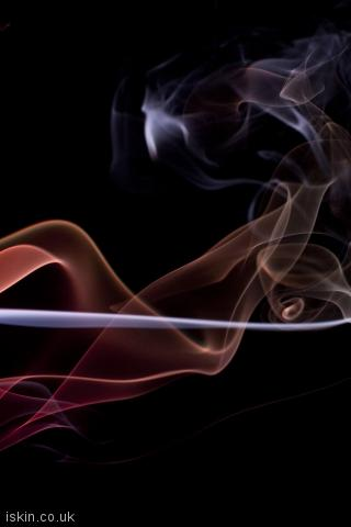 iphone portrait wallpaper twisting smoke background