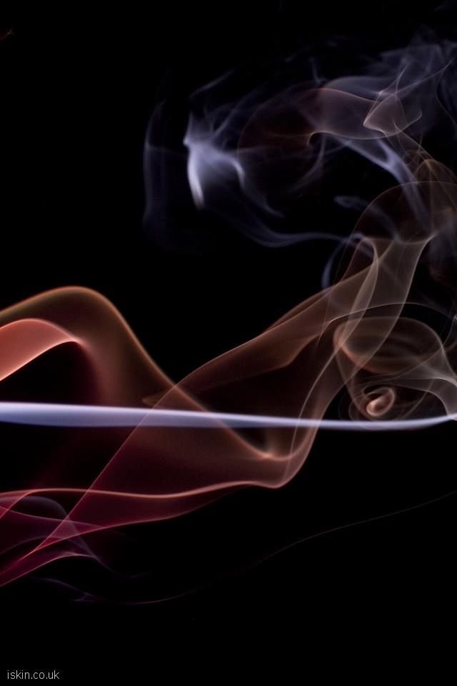 iphone 4 portrait wallpaper twisting smoke background