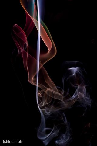 iphone landscape wallpaper twisting smoke background