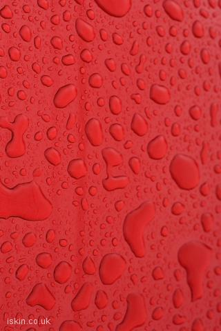 iphone landscape wallpaper Waterdrops on Red